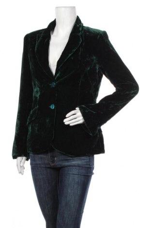 Дамско сако H&M, Размер M, Цвят Зелен, 82% вискоза, 18% полиамид, Цена 25,20лв.