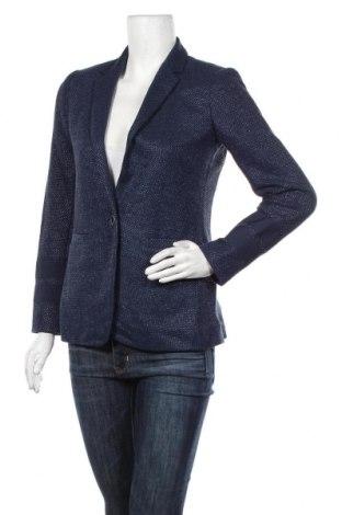 Дамско сако Massimo Dutti, Размер S, Цвят Син, 80% памук, 20% полиамид, Цена 51,45лв.