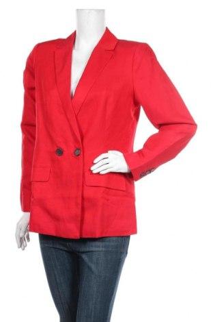 Дамско сако Mint Velvet, Размер M, Цвят Червен, 53% лен, 47% вискоза, Цена 179,25лв.