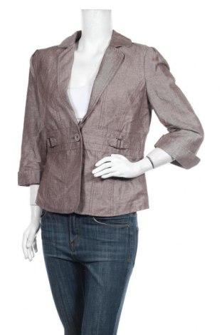 Дамско сако My Own, Размер L, Цвят Кафяв, 55% лен, 45% памук, Цена 25,94лв.