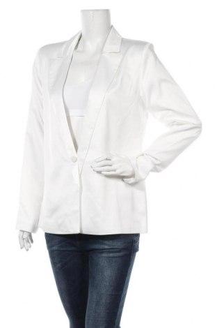 Дамско сако Na-Kd, Размер M, Цвят Бял, 98% полиестер, 2% еластан, Цена 37,92лв.