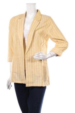 Дамско сако ONLY, Размер M, Цвят Жълт, 70% памук, 30% лен, Цена 23,52лв.