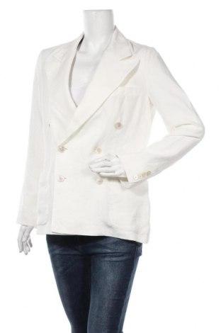 Дамско сако Polo By Ralph Lauren, Размер M, Цвят Бял, Лен, Цена 224,25лв.