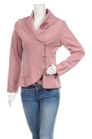 Dámské sako  Simple Wish, Velikost M, Barva Popelavě růžová, 80% polyester, 20% vlna, Cena  430,00Kč