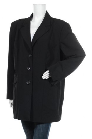 Dámské sako  Ulla Popken, Velikost XXL, Barva Černá, 63% polyester, 32% viskóza, 5% elastan, Cena  446,00Kč