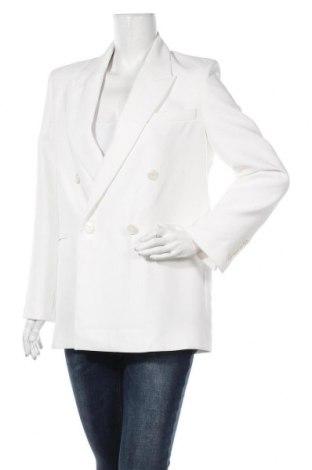 Дамско сако Zara, Размер S, Цвят Бял, Полиестер, Цена 46,62лв.