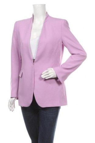 Γυναικείο σακάκι Zara, Μέγεθος L, Χρώμα Βιολετί, 69% πολυεστέρας, 26% βισκόζη, 5% ελαστάνη, Τιμή 34,41€