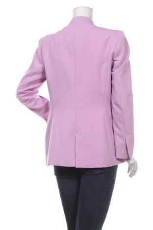 Дамско сако Zara, Размер L, Цвят Лилав, 69% полиестер, 26% вискоза, 5% еластан, Цена 47,17лв.
