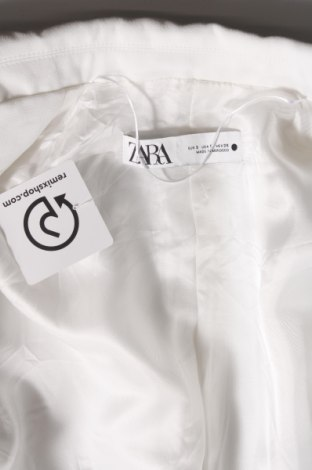 Sacou de femei Zara, Mărime S, Culoare Alb, Poliester, Preț 152,96 Lei