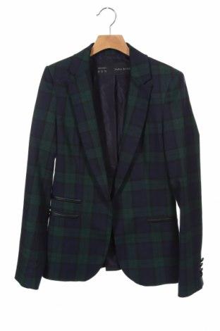 Γυναικείο σακάκι Zara, Μέγεθος XS, Χρώμα Μπλέ, 52% πολυεστέρας, 46% βισκόζη, 2% ελαστάνη, Τιμή 21,34€