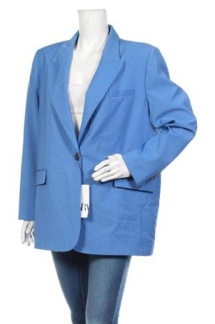 Дамско сако Zara, Размер XL, Цвят Син, 100% полиестер, Цена 49,14лв.