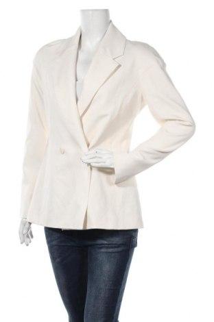 Дамско сако Zara, Размер XL, Цвят Екрю, 53% полиестер, 44% памук, 3% еластан, Цена 48,95лв.
