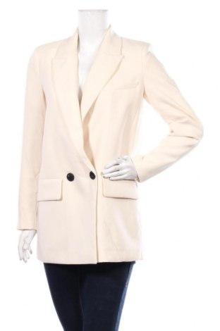 Дамско сако Zara, Размер S, Цвят Екрю, Полиестер, Цена 49,77лв.