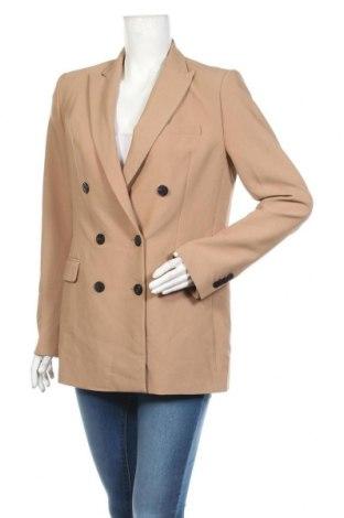 Дамско сако Zara, Размер M, Цвят Кафяв, 100% полиестер, Цена 48,95лв.