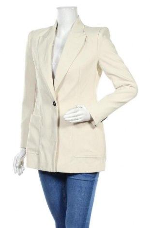 Дамско сако Zara, Размер S, Цвят Екрю, 76% полиестер, 17% вискоза, 7% еластан, Цена 48,95лв.
