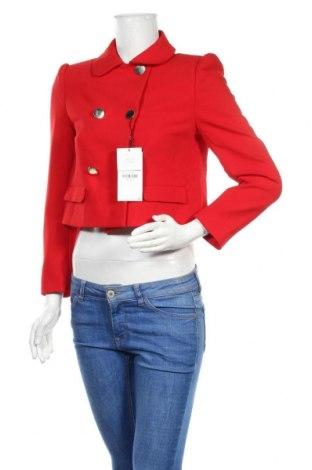 Дамско сако Zara, Размер S, Цвят Червен, 73% полиестер, 20% вискоза, 7% еластан, Цена 48,95лв.
