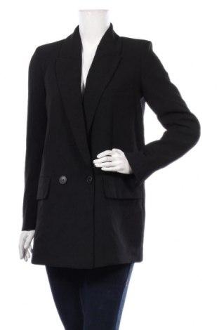 Дамско сако Zara, Размер M, Цвят Черен, Полиестер, Цена 51,35лв.
