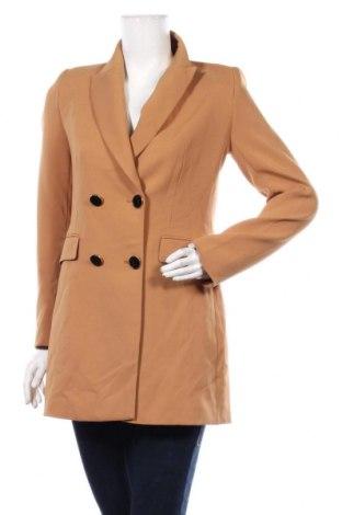 Дамско сако Zara, Размер S, Цвят Кафяв, 95% полиестер, 5% еластан, Цена 62,37лв.