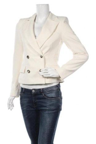 Дамско сако Zara, Размер S, Цвят Екрю, 74% полиестер, 19% вискоза, 7% еластан, Цена 54,45лв.