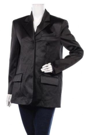 Дамско сако Zara, Размер M, Цвят Черен, 98% полиестер, 2% еластан, Цена 47,30лв.