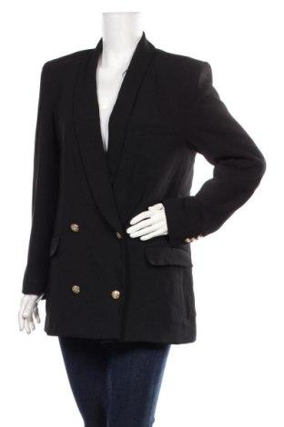 Дамско сако Zara, Размер S, Цвят Черен, Полиестер, Цена 57,85лв.