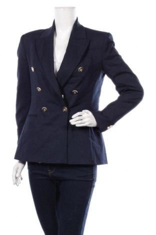 Дамско сако Zara, Размер M, Цвят Син, 59% памук, 38% полиестер, 3% еластан, Цена 48,95лв.