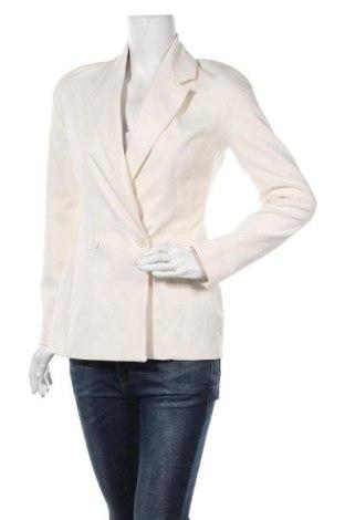 Дамско сако Zara, Размер S, Цвят Бежов, 53% полиестер, 44% памук, 3% еластан, Цена 48,95лв.
