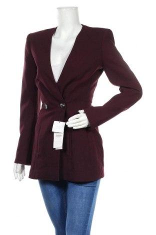 Дамско сако Zara, Размер XS, Цвят Лилав, 71% полиестер, 23% вискоза, 6% еластан, Цена 56,07лв.