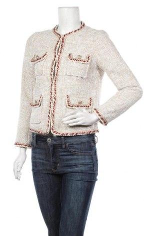 Дамско сако Zara, Размер S, Цвят Бежов, Полиестер, Цена 36,75лв.