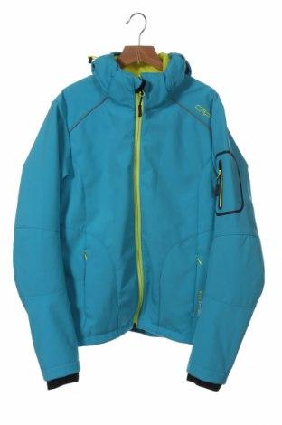 Дамско спортно яке CMP, Размер XS, Цвят Син, 96% полиестер, 4% еластан, Цена 66,15лв.