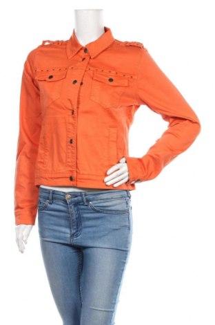Дамско яке Culture, Размер M, Цвят Оранжев, 98% памук, 2% еластан, Цена 96,75лв.