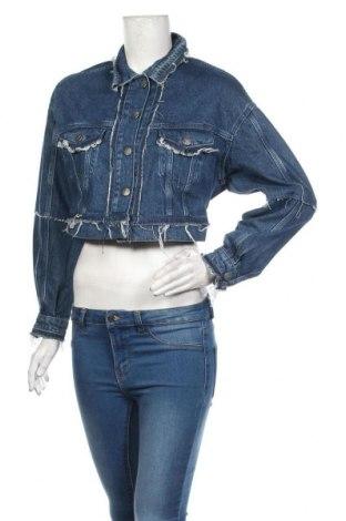 Дамско яке Dua Lipa x Pepe Jeans, Размер S, Цвят Син, Памук, Цена 149,25лв.