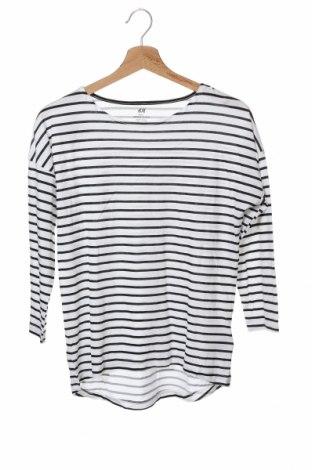 Bluză pentru copii H&M, Mărime 14-15y/ 168-170 cm, Culoare Alb, 50% bumbac, 50% modal, Preț 18,90 Lei