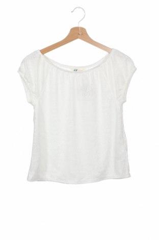 Bluză pentru copii H&M, Mărime 14-15y/ 168-170 cm, Culoare Alb, 90% poliamidă, 10% elastan, Preț 88,82 Lei