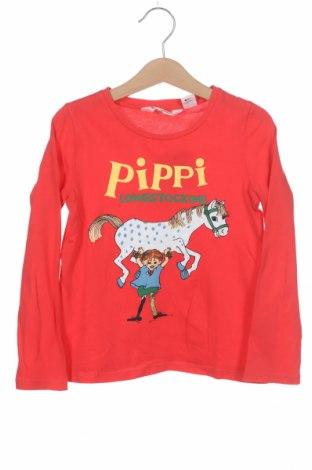 Детска блуза H&M, Размер 4-5y/ 110-116 см, Цвят Червен, Цена 17,25лв.