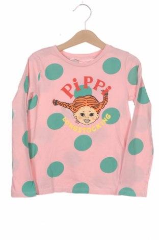 Детска блуза H&M, Размер 4-5y/ 110-116 см, Цвят Розов, Памук, Цена 17,25лв.