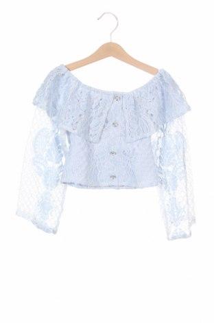 Детска блуза River Island, Размер 6-7y/ 122-128 см, Цвят Син, 45% полиамид, 30% памук, 25% полиестер, Цена 18,00лв.