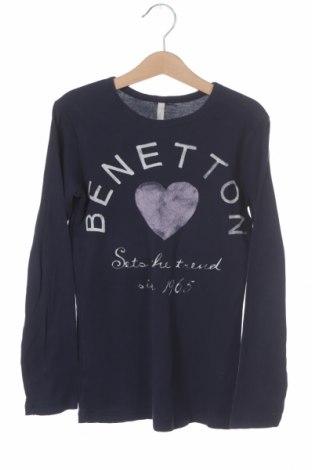 Детска блуза United Colors Of Benetton, Размер 5-6y/ 116-122 см, Цвят Син, Цена 16,50лв.