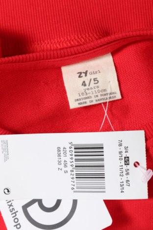 Παιδική μπλούζα ZY kids, Μέγεθος 5-6y/ 116-122 εκ., Χρώμα Κόκκινο, 60% βαμβάκι, 40% πολυεστέρας, Τιμή 9,07€