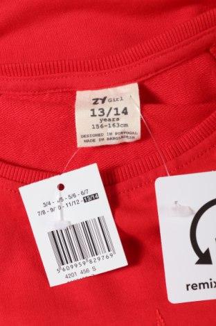 Παιδική μπλούζα ZY kids, Μέγεθος 12-13y/ 158-164 εκ., Χρώμα Κόκκινο, 60% βαμβάκι, 40% πολυεστέρας, Τιμή 9,07€