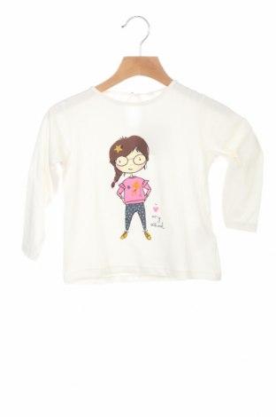 Детска блуза ZY kids, Размер 12-18m/ 80-86 см, Цвят Бял, 97% памук, 3% еластан, Цена 39,00лв.