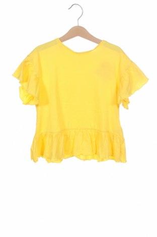 Детска блуза ZY kids, Размер 5-6y/ 116-122 см, Цвят Жълт, Памук, Цена 10,40лв.