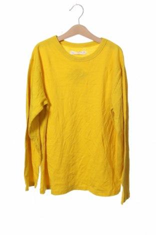 Bluză pentru copii Zara, Mărime 11-12y/ 152-158 cm, Culoare Galben, Bumbac, Preț 50,92 Lei