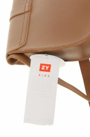 Детска чанта ZY kids, Цвят Кафяв, Еко кожа, Цена 12,25лв.