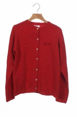 Pulover cu nasturi pentru copii ZY kids, Mărime 10-11y/ 146-152 cm, Culoare Roșu, Lână, Preț 161,18 Lei