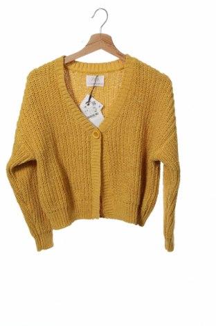 Детска жилетка Zara, Размер 13-14y/ 164-168 см, Цвят Жълт, 100% полиестер, Цена 36,75лв.