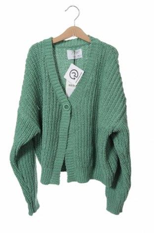 Pulover cu nasturi pentru copii Zara, Mărime 13-14y/ 164-168 cm, Culoare Verde, 100% poliester, Preț 138,16 Lei