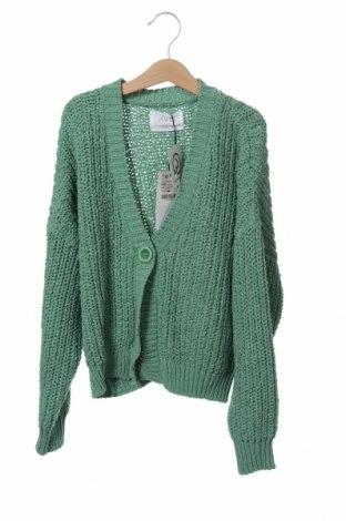 Pulover cu nasturi pentru copii Zara, Mărime 9-10y/ 140-146 cm, Culoare Verde, 100% poliester, Preț 161,18 Lei
