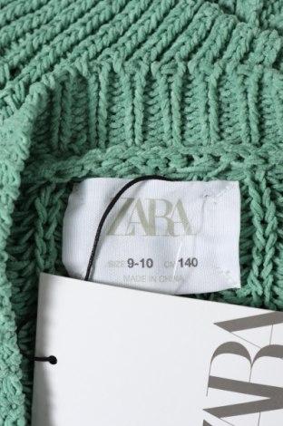 Pulover cu nasturi pentru copii Zara, Mărime 9-10y/ 140-146 cm, Culoare Verde, 100% poliester, Preț 120,89 Lei