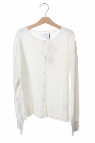 Παιδική ζακέτα Zara, Μέγεθος 12-13y/ 158-164 εκ., Χρώμα Λευκό, 70% βαμβάκι, 30% πολυαμίδη, Τιμή 12,66€